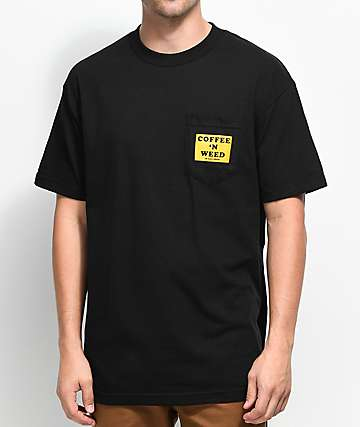 Weather MTN Morning Classic Black Pocket T-Shirt