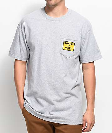Weather MTN Morning Classic Grey Pocket T-Shirt