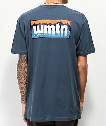 WeatherMTN Ridgeline Vintage Navy T-Shirt