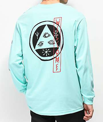 Welcome Beckon Teal Long Sleeve T-Shirt