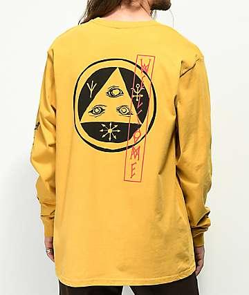 Welcome Beckon camiseta de manga larga de color mostaza
