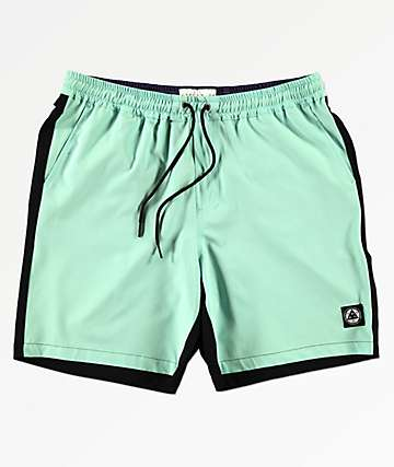 Welcome Dark Wave Teal & Black Board Shorts