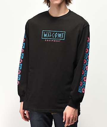 Welcome Eracer Black Long Sleeve T-Shirt