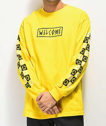 Welcome Eracer Yellow Long Sleeve T-Shirt