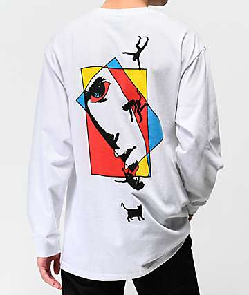 f6be77355277 Welcome Faces White Long Sleeve T-Shirt
