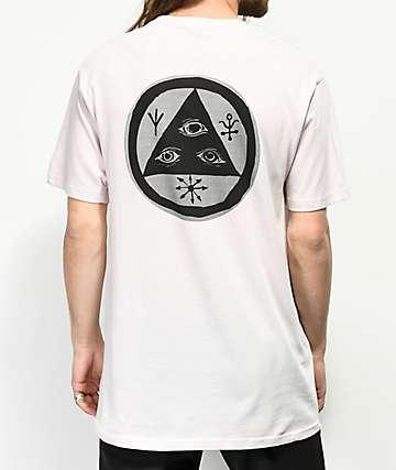 Welcome Halftone Talisman camiseta de color lila