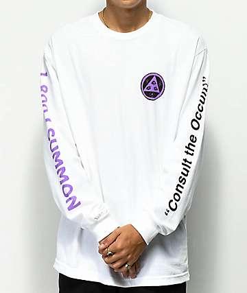 Welcome Hotline White & Purple Long Sleeve T-Shirt