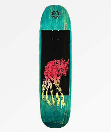 "Welcome Maned Wolf Black & Teal 8.25"" Skateboard Deck"