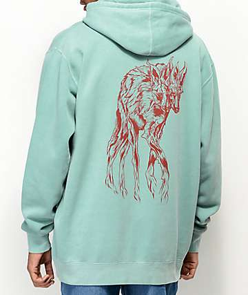 Welcome Maned Woof Green Hoodie