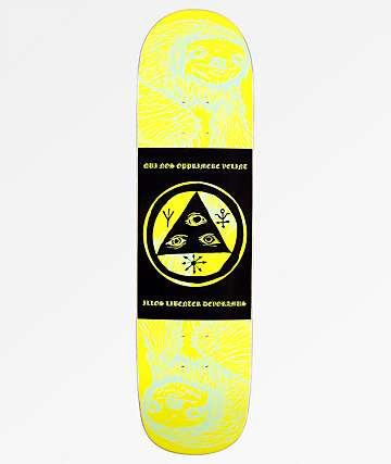 "Welcome Mantra Sloth On Bunyip 8.0"" Lime tabla de skate"