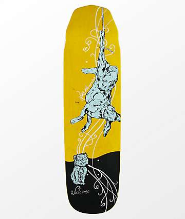 "Welcome Nora Fairy Tale On Wicked Queen 8.6"" Yellow Skateboard Deck"