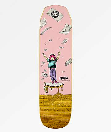 "Welcome Nora Magilda Pink & Yellow 7.6"" Skateboard Deck"
