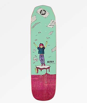 "Welcome Nora Magilda Teal & Pink 8.1"" Skateboard Deck"