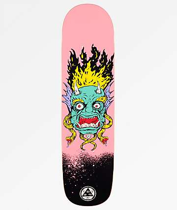 "Welcome Old Nick On Bunyip 8.0"" tabla de skate rosa"