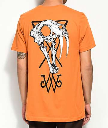 Welcome Saber Skull Orange T-Shirt