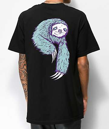 Welcome Sloth Black T-Shirt
