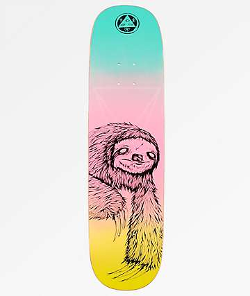"Welcome Sloth On Amulet 8.125"" Rainbow Skateboard Deck"