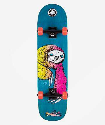 "Welcome Sloth On Bunyip Blue 8.0"" Skateboard Complete"