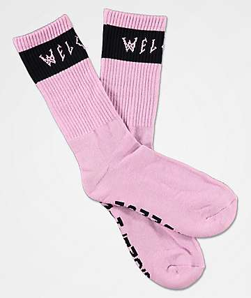Welcome Summon Lilac Crew Socks