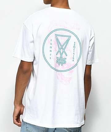 Welcome Symbol Overlay White T-Shirt
