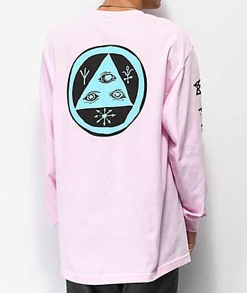 Welcome Tali-Scrawl Pink Long Sleeve T-Shirt