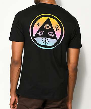 Welcome Talisman Black & Rainbow T-Shirt