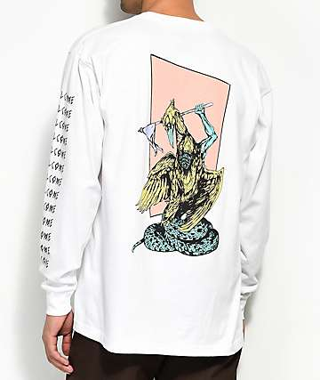 Welcome Twenty Eyes White Long Sleeve T-Shirt
