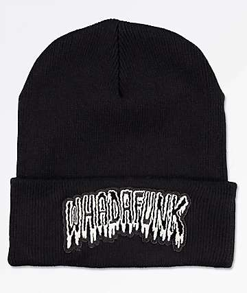 Whadafunk Drippy Funk Patch Black Beanie