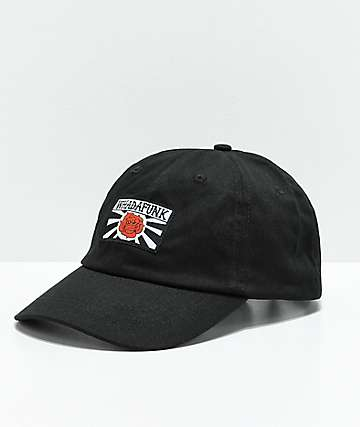 Whadafunk Red Rose Black Strapback Hat