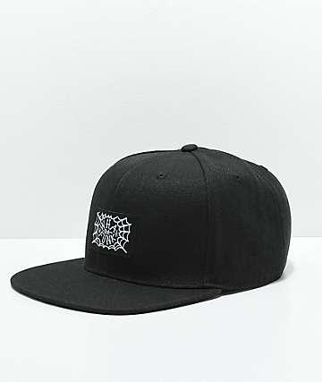 Whadafunk Spider Web Black Snapback Hat
