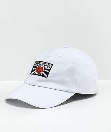 Whadafunk gorra blanca con rosa