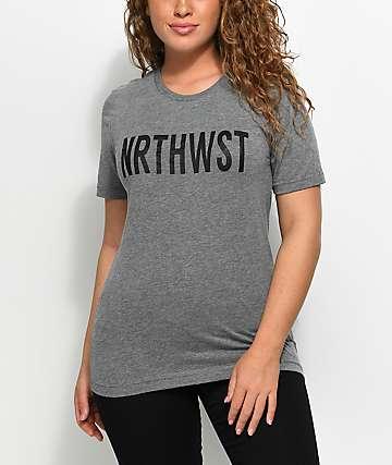Wish You Were Northwest NRTHWST Grey T-Shirt