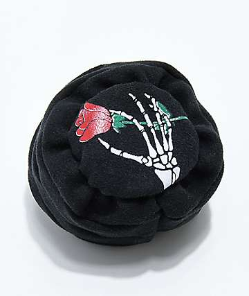 World Footbag RIP Rose Black Hacky Sack