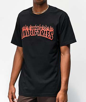 World Industries Flame Black T-Shirt