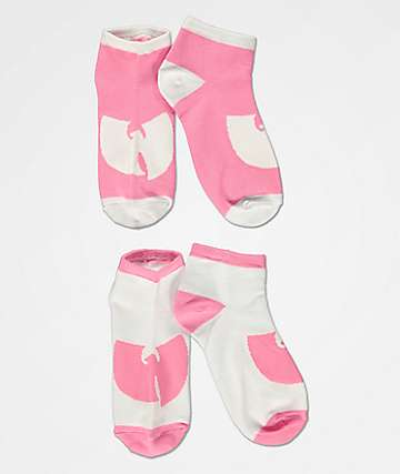 Wu-Tang 2 Pack Pink Solo Logo Ankle Socks