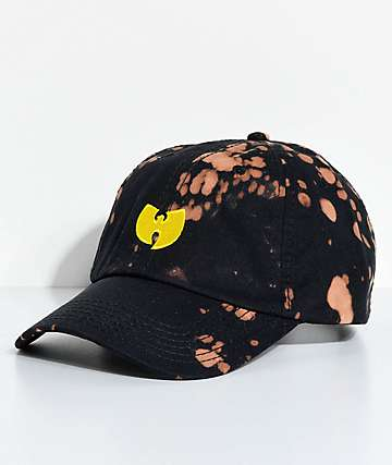 Wu-Tang Black Bleach Strapback Hat