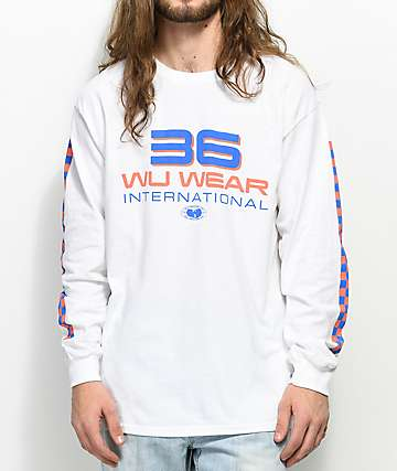 Wu Wear 36 International White Long Sleeve T-Shirt