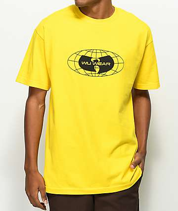 Wu Wear Globe Logo Yellow T-Shirt