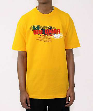 Wu Wear Multi Globe Gold T-Shirt