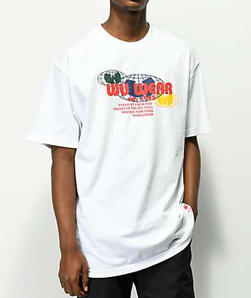 Wu Wear Multi Globe White T-Shirt