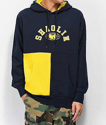 Wu Wear Shaolin Blocked Navy Hoodie