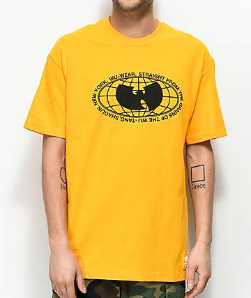Wu Wear Straight From The Grains camiseta dorada