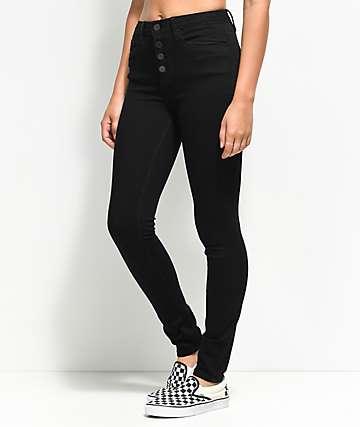 YMI Sadie Luxe Black High Rise Skinny Jeans