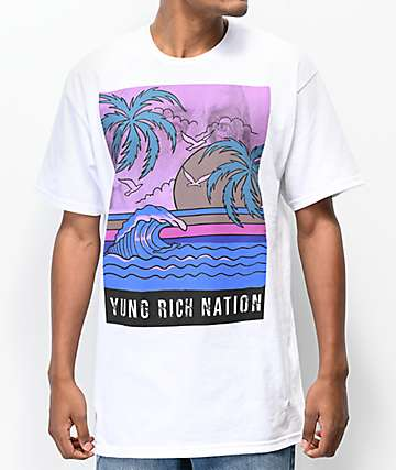 YRN Benji Waves White T-Shirt