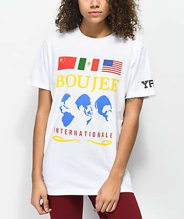 YRN Boujee Internationale White T-Shirt