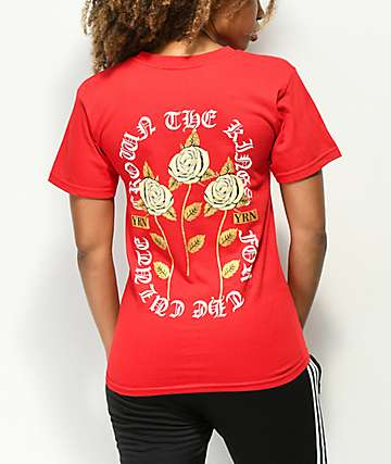 YRN Crown The Roses camiseta roja