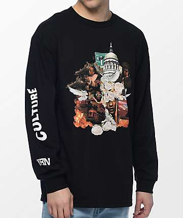 YRN Culture Album Black Long Sleeve T-Shirt