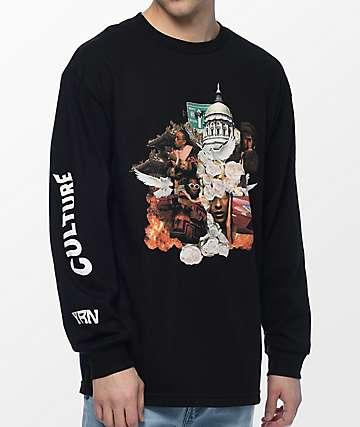 YRN Culture Album camiseta negra de manga larga