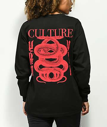 YRN Culture II Snake Black Long Sleeve T-Shirt