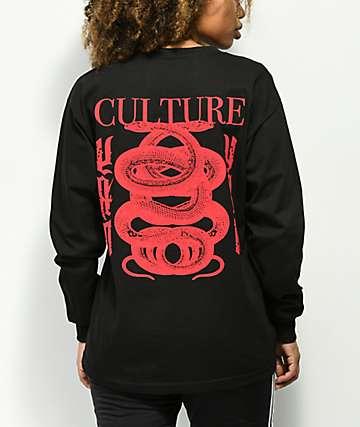 YRN Culture II Snake camiseta negra de manga larga